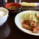 えん - 料理写真:日替わりランチ ヒレステーキとカニ入りコロッケ