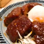 横浜なかや - ◆ジョイナスハルの丼フェア 温玉味噌カツ丼 1,000円 (スープとお新香付き)