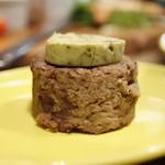 フレンチビストロ バルザル - 牛すじ入り蓮根餅牡蠣バター乗せ