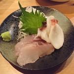居酒屋 ちゅーりっぷと鯱 - 佐渡産クロソイとタコ