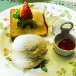アリスの茶屋 - アリス茶屋セット1000円 オレンジバナナのシフォン