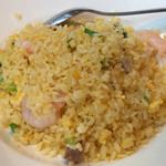 Paradaisudainashithi - 炒飯は海老と焼豚