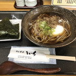 106521794 - 温玉蕎麦¥350 TP天かす¥50+おにぎり¥100 =¥500