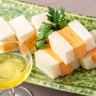 【豆乳だしまきサンド】オリーブ塩でどうぞ
