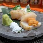 ぼちぼち - 料理写真:たいらぎ貝のお造り