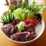 106533325 - なぎビーフ ステーキ丼 2019年4月