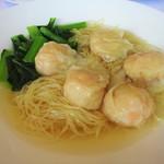 106535675 - 平日限定ランチセット:海老ワンタン麺