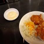 麺家 津田四川 - 唐揚げとマヨネーズ