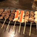 カリブの宴 - おまかせ串焼き10本盛り