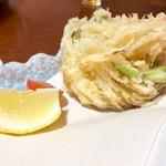 手打ちそば 藤村 - 野菜のかき揚げ