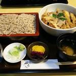 印旛そば 石亭 - 料理写真:カツ丼そばセット