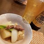 和食ながい - お通しとノンアルコールビール
