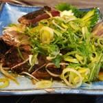 炭火焼 みや澤 - カツオの藁焼き ポン酢