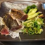 炭火焼 みや澤 - カツオの藁焼き 塩