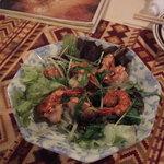 多国籍料理 麦風亭 - 海老の唐辛子炒め