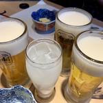 106550258 - まずは生ビールとカルピスサワー(笑)でカンパ〜イ♫