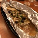 GOCHISO-DINING 雅じゃぽ - 真鱈と木の子の包み焼き 豚骨味噌仕立て  サワラのホイル焼き