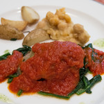 エリオ・ロカンダ・イタリアーナ - 霧島豚とトマト、カッチョカヴァッロの重ね焼き