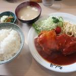 106564089 - ポークチャップ定食 2019.4月