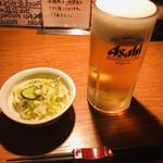 やきとり処 Katsu - 生ビール&お通し