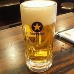 珉珉 - 五目やきそばセット・生ビール