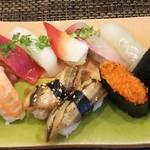 玄海鮨 - 竹 にぎり(1000円)+ヒラメ+アナゴ+カンピョウ巻
