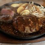 スパイシードラゴン - 料理写真:ハンバーグ+スパドラステーキ+デミグラスソース ¥1700