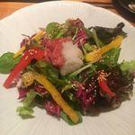 106583043 - 京野菜と鬼おろしの酒盗サラダ