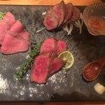 肉と京料理 かぐら - 京の肉三種盛り