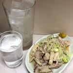 岐阜屋 - 焼酎+蒸し鶏