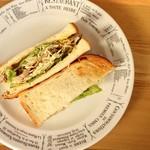 カフェ&ダイニング フェルマータ - 福ちゃんサンド / Chicken sandwich