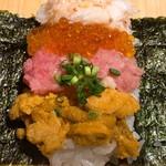 板前寿司 - レインボー手巻き アップ