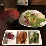 wagyuuyakinikubarukuramoto - H31.4 サイドサラダ・スープ・漬物類