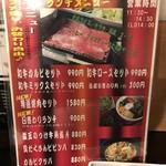 wagyuuyakinikubarukuramoto - H31.4 ランチメニュー