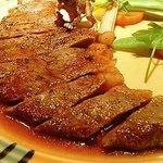 サラマンジェ - 牛サーロインステーキ和風ソース