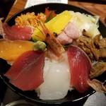魚盛 - ランチ・魚盛海鮮丼。