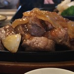 106611556 - 那須和牛おすすめサイコロステーキ(標高)                       225㌘はかなり食べ応えあり