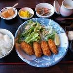 和膳 花あかり - カキフライ定食