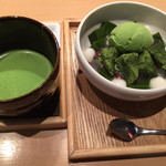 京はやしや - 抹茶あんみつも一緒にたのみました。