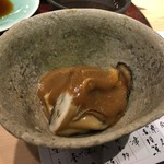 第三春美鮨 - 蒸し牡蠣 特大 岩手県広田湾 酢味噌