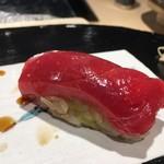 第三春美鮨 - シビマグロ 血合いぎし 175kg 腹上二番 熟成3日目 延縄漁 和歌山県那智勝浦