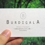 ブーランジェリー ブルディガラ - 名刺