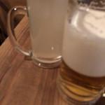 貝呑 - ドリンクはセルフです。酔っ払いが生ビールを注ぐと泡ばかりになるという実験結果w