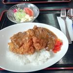 神宮前茶屋 - 黒豚ヒレカツカレー(990円)