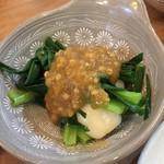 恵味うどん - 分葱の梅味噌和え
