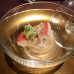 Happouembanketto - 帆立ムースの蕪蒸しに金目鯛             金糸鱶鰭の紬餡