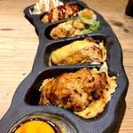 鶏家 六角鶏 - 自慢つくね五種全盛り