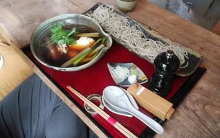 蕎麦 山猫 - 「鴨南蛮せいろ」細麺