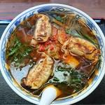 満州ニラら~めんの店 さかえや - 満州ニラギョーザラーメン(中)辛くてこくがあって麺もおいしい癖になるラーメンです