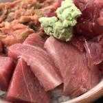 竹家食堂 - 二色丼1,000円税込